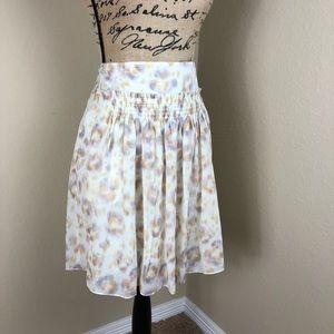 Ann Taylor Purple Print Summer Skirt 10